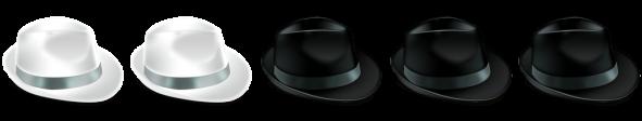 sombreros blancos y negros