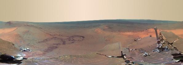 crater endeavour marte