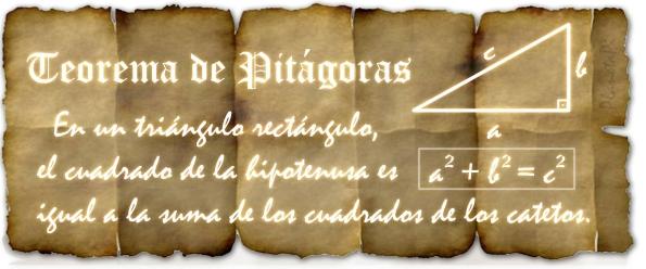 Teorema de Pitagoras. Matematicas, secundaria. Triángulos, hipotenusa y catetos.