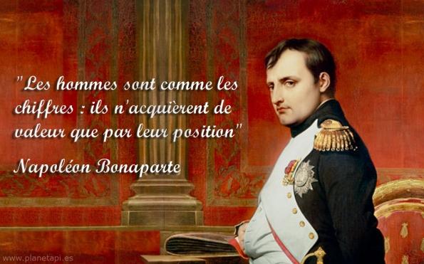 Citations sur les mathematiques Napoleon Bonaparte