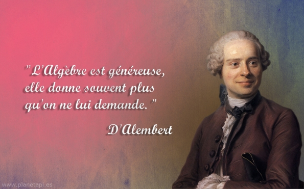 D'Alembert citations algèbre