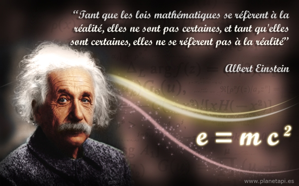 albert einstein citations mathématiques