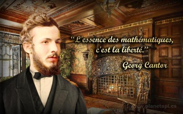 Georg Cantor. Des phrases mathématiques.
