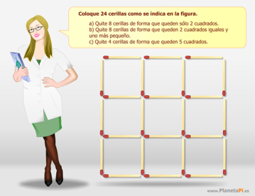 profesora cerillas secundaria vector matematicas recreativas