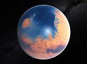 Marte, océano en polo norte