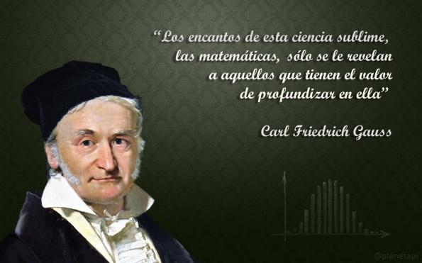 Carl Friedrich Gauss, frase de matemáticas