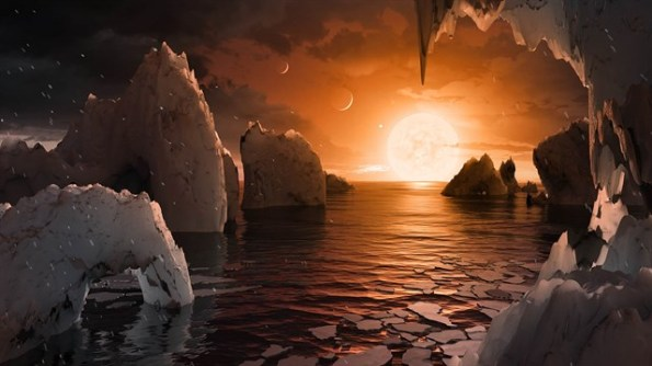 Sistema solar TRAPPIST-1 con siete planetas rocosos